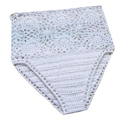 1b7f47886e3 Amazon.com: ❤ ZyrunaeL ❤ Women's Hand-Woven High WAIS Lace ...