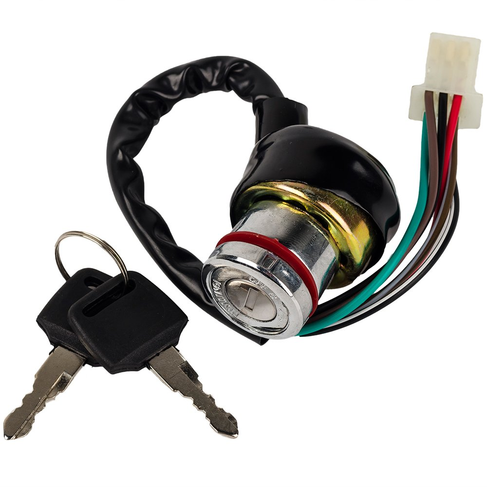 Hifromtm Ignition Key Switch 6 Wire 50cc 70cc 90cc Eton Atv Wiring 110cc 125cc Falcon Roketa Garden Outdoor