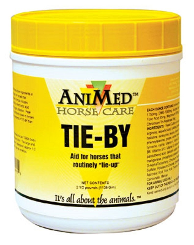 ANIMED 2.5 lbs Tie-By Vitamin E and Selenium Powder Supplement and Preventative For Use in Horses That Regularly ''Tie-Up''