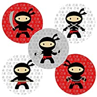 Ninja Sticker Labels - Party Favors and Envelope Seal Party Supplies Decoration - Set of 50