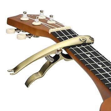Hidear B12 Capo - Cejilla para guitarra acústica y eléctrica (aleación de zinc y delicada almohadilla de silicona), color negro: Amazon.es: Instrumentos ...