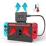 【Almach】 任天堂 Switch 冷却ファン ハイパワー 冷却 クーラー 熱対策 排熱 Nintendo 温度表示 風量変更 スイッチドック 静音 1年保証