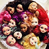 WellieSTR 5pcs doll heads for ever after Dolls,Doll Accessories Heads For Monster toys high doll DIY Heads (Random Color)