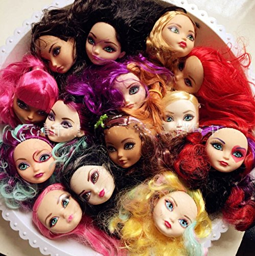 WellieSTR 5pcs doll heads for ever after Dolls,Doll Accessories Heads For Monster toys high doll DIY Heads (Random Color) -