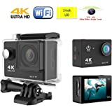 Ultra HD 4K Sports Camera [2015 updated] 2-inch LCD Mini Waterproof 1080P HDMI WiFi 60fps DV Action Helmet sport Camcorder H9