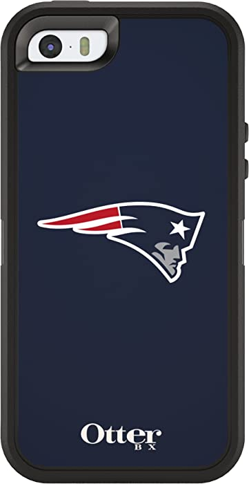 OtterBox DEFENDER SERIES Case for iPhone 5/5s/SE - Retail Packaging - NFL PATRIOTS (BLACK/NFL NEW ENGLAND PATRIOTS)