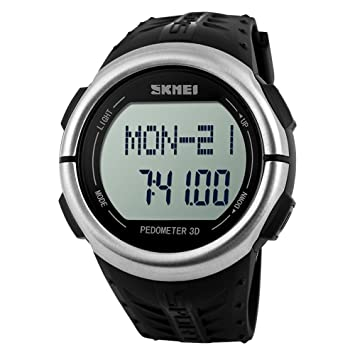 Corazón Tasa Digital Deporte Reloj 3d podómetro Pulsar pasos calorías distancia de seguimiento reloj de pulsera