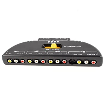 4Way Audio Video AV RCA Switch Game Selector Box Amazoncouk