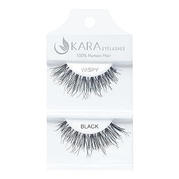 78fbd6669c0 Amazon.com : u KARA 100% Human Hair Natural False Eyelashes (#K-EL-WISPY-12  Pack) Fake Lash Makeup : Beauty