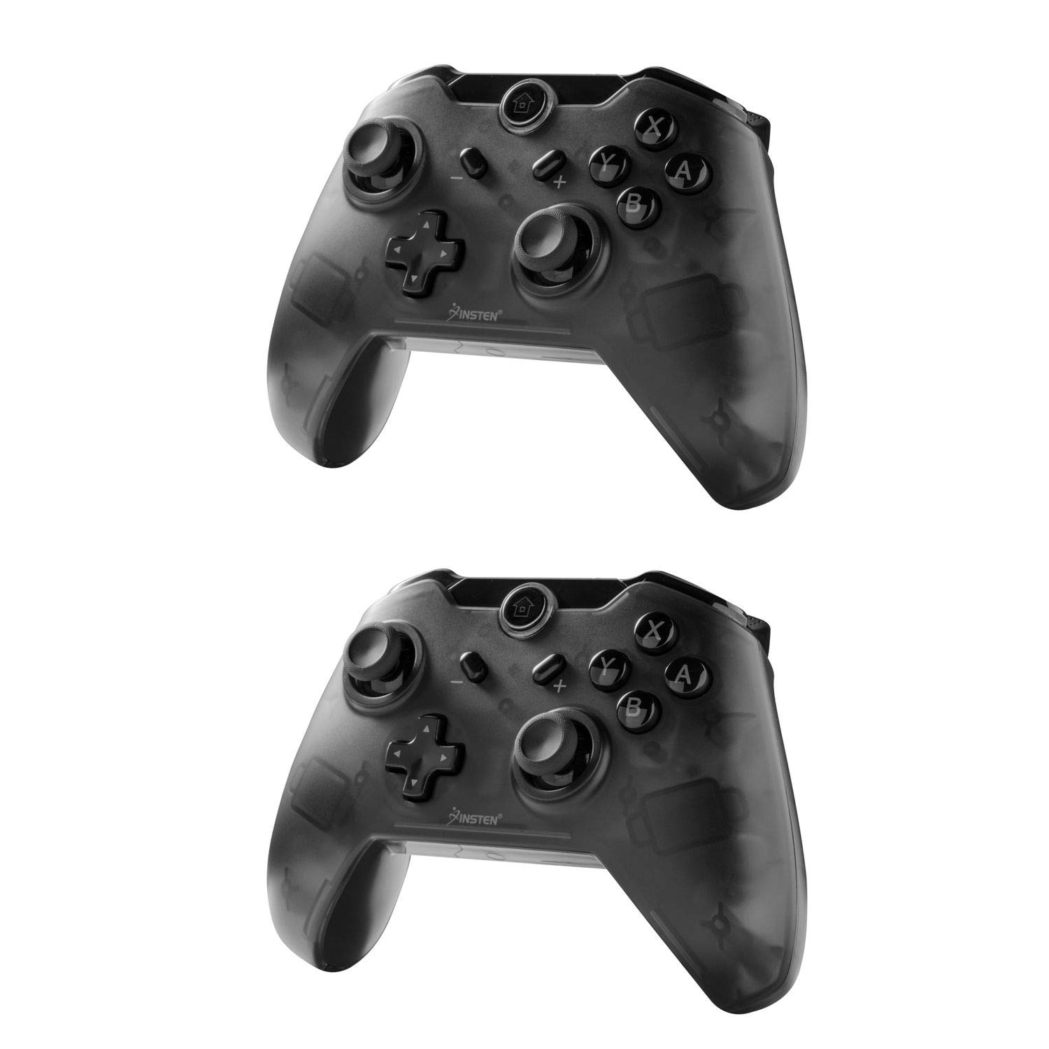 Insten Wireless Pro Remote Controller for Nintendo Switch 2-Pack Wireless Gaming Pro Controller Bluetooth Gamepad Joypad Compatible With Nintendo Switch Console, Black (with USB charging cable)