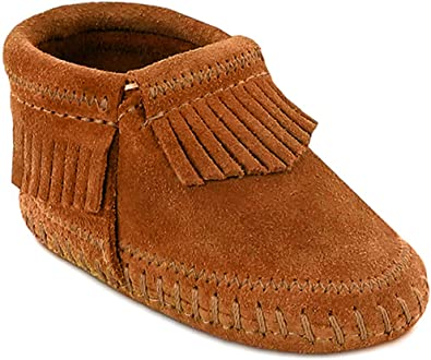 New Baby Girl Pink Suede //Leather MINNIETONKA Moccasins Size Birth-1 Month