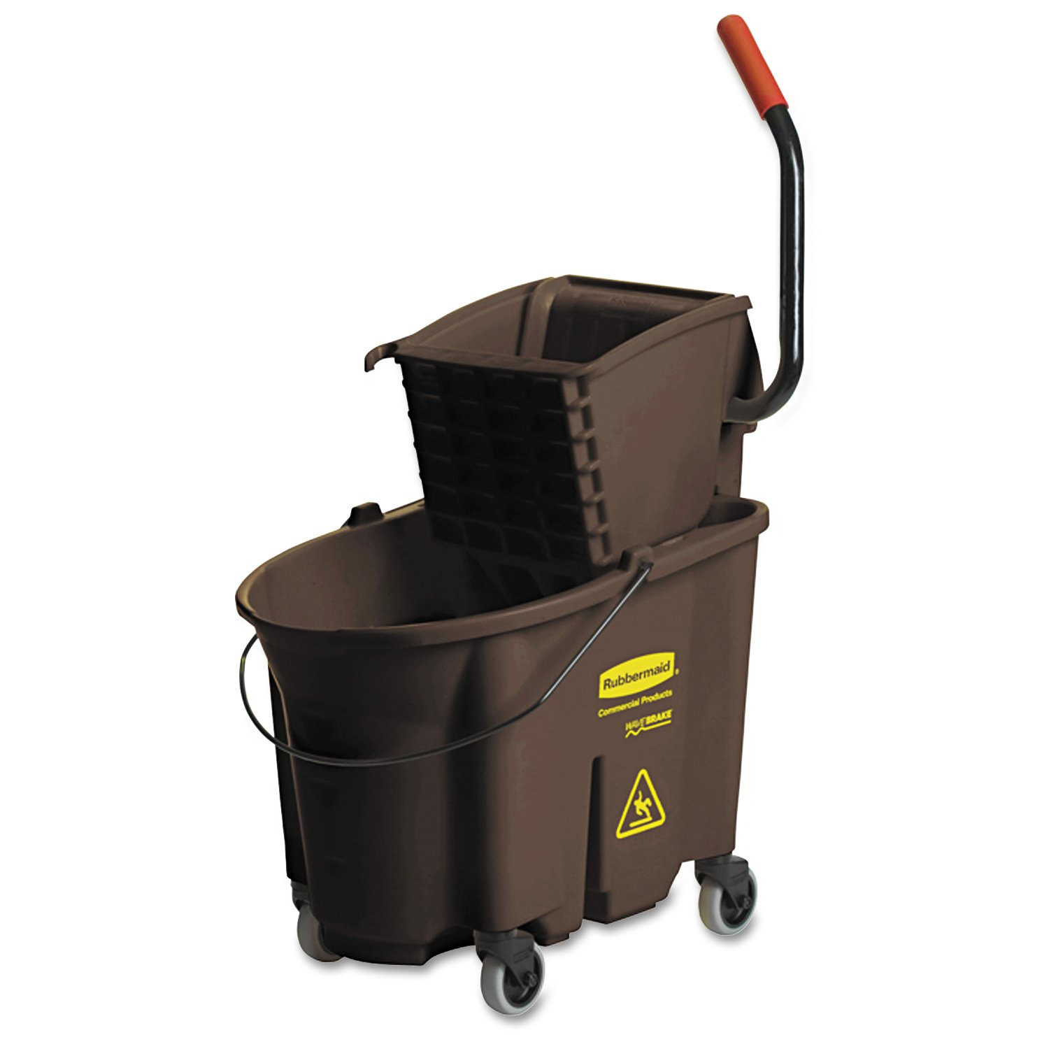 Rubbermaid Commercial FG758088BRN WaveBrake Side Press Combo High-Performance Mopping System, 35-Quart Capacity, Brown