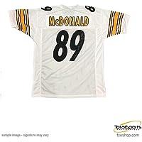 $104 » Vance Mcdonald Autographed Jersey - White Custom - Autographed NFL Jerseys