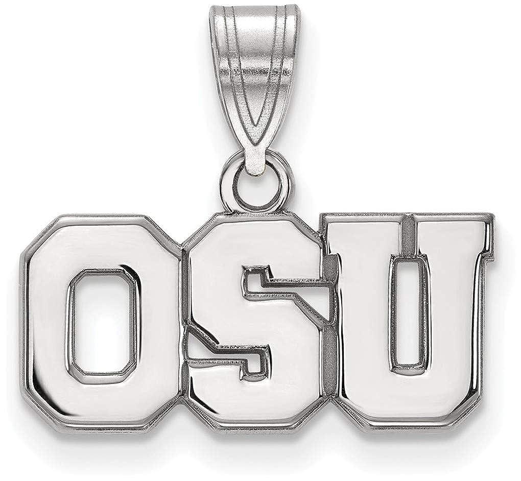 Sterling Silver Ohio State University Medium Pendant by LogoArt SS082OSU