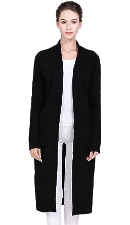 6c070a99e2 S.ROMZA Women s Cardigan Maxi Long Open Front Knit Full Sleeve Thick Sweater  Warm Coat