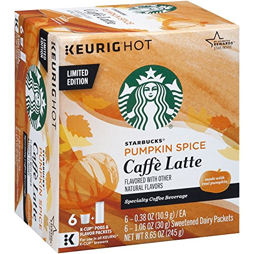 Starbucks Pumpkin Spice Caffe Latte K-cups Limited Edition ( 2 Boxes)