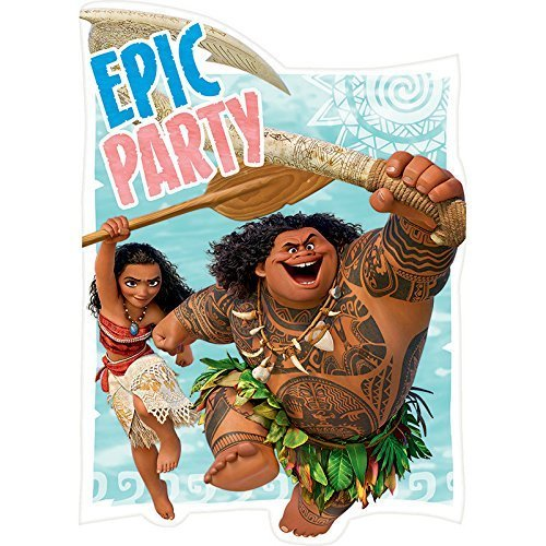 Moana Disney Hawaii Beach Princess Decoration Party Birthday Invitations Invite 24PC by Hallm
