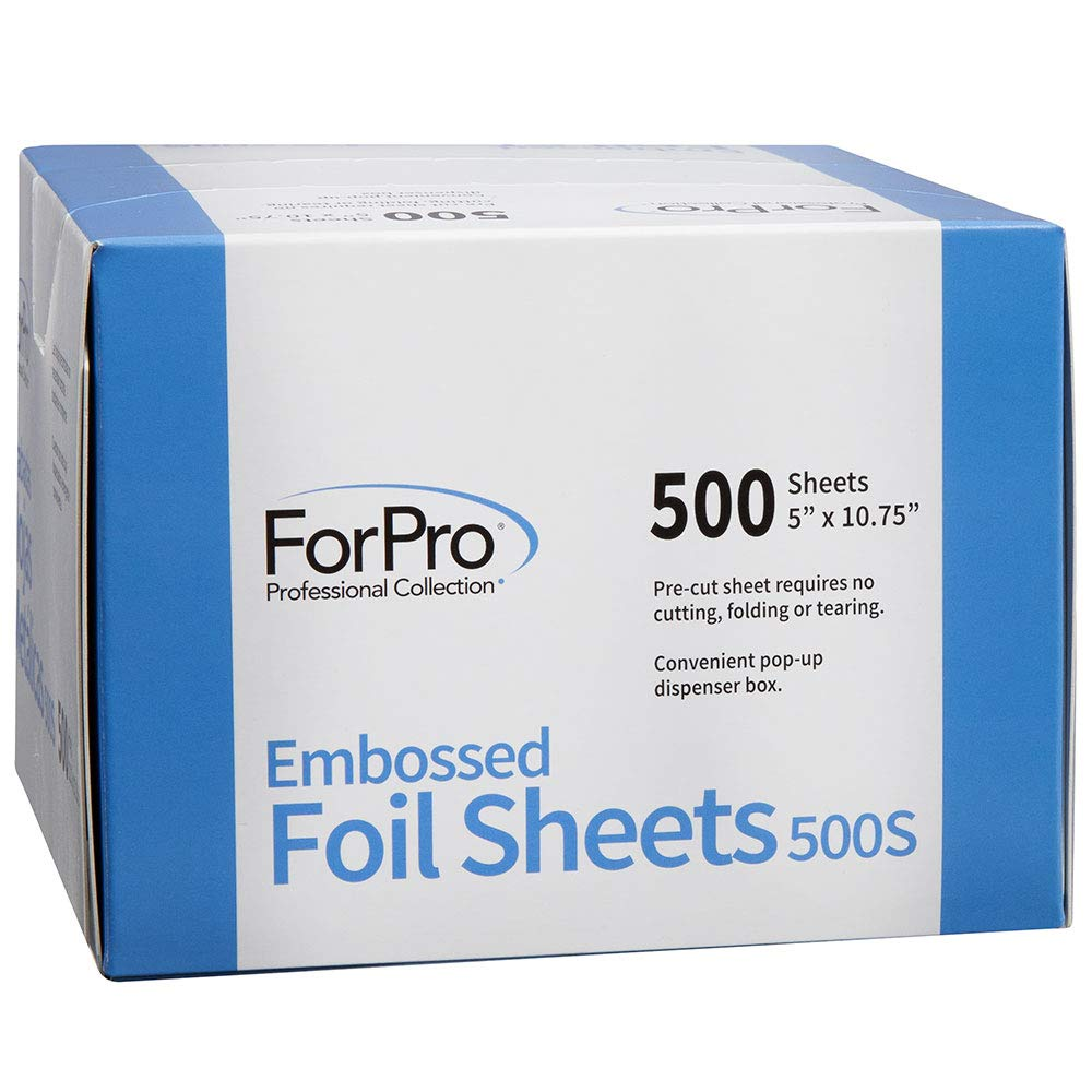 ForPro Embossed Foil Sheets 500S, Pop-Up Dispenser, 5 W x 10.75 L Inches, 6000-Count (Pack of 12, 500 Foil Sheets) by ForPro (Image #3)