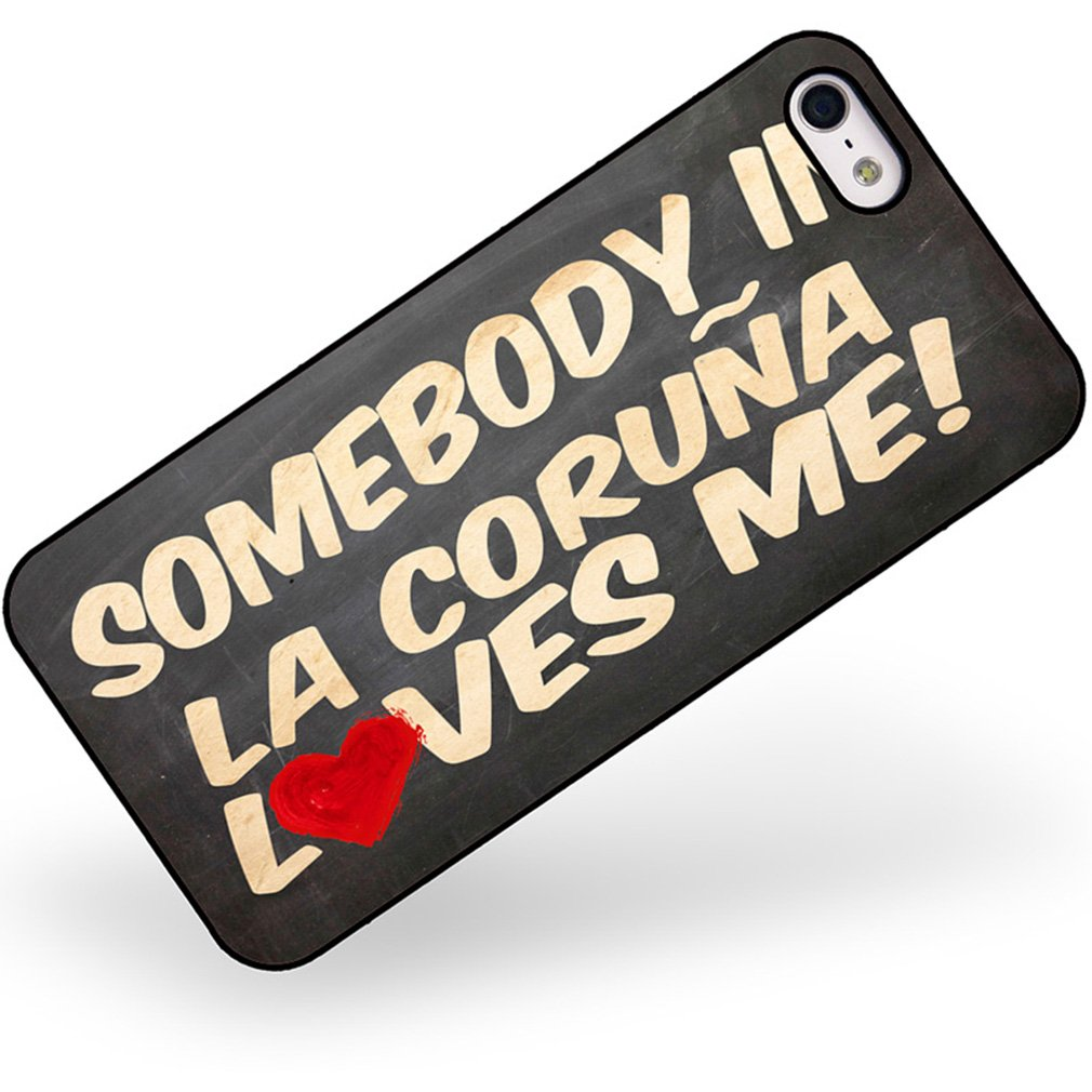 Amazon.com: Rubber Case for iphone 5 5s Somebody in La ...