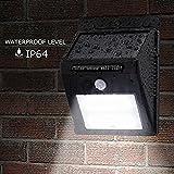 YRD TECH 420 LED Solar Power PIR Motion Sensor Wall Light Outdoor Garden Waterproof Lamp (Black)