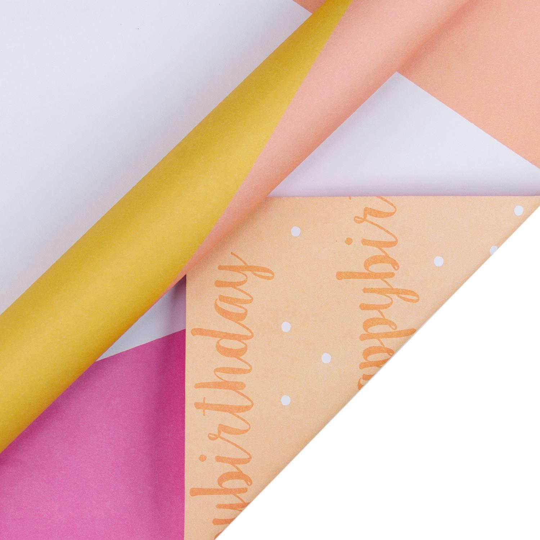 6 Feuilles Pli/ées RUSPEPA Feuilles De Papier DEmballage Cadeau Emballages De Cadeau De Naissance Vacances Papier DEmballage Rose Et Bleu Pour Anniversaire 50Cmx70Cm