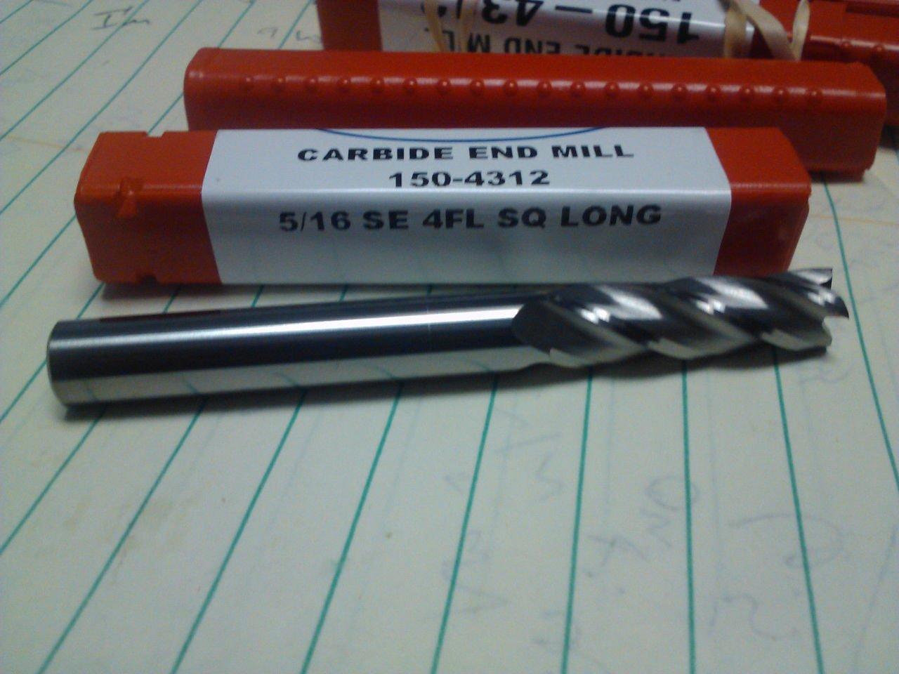 ".3125/"" 5//16/"" 4 FLUTE SINGLE END STUB CARBIDE BALL END MILL 5//16/"" X 1//2/"" X 2/"""