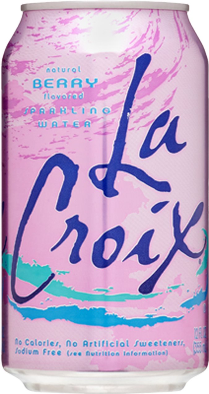 La Croix Berry Naturally Essenced Flavored Sparkling Water, 12 oz Can (Pack of 72, Total of 864 Oz) by La Croix