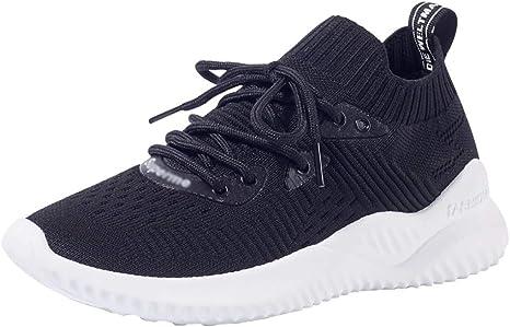 ZLYZS Zapatillas De Correr para Mujer, Zapatillas De Malla De Punto Zapatillas De Deporte De Moda Casual Sin Cordones Zapatillas De Deporte Antideslizantes Antideslizantes: Amazon.es: Deportes y aire libre