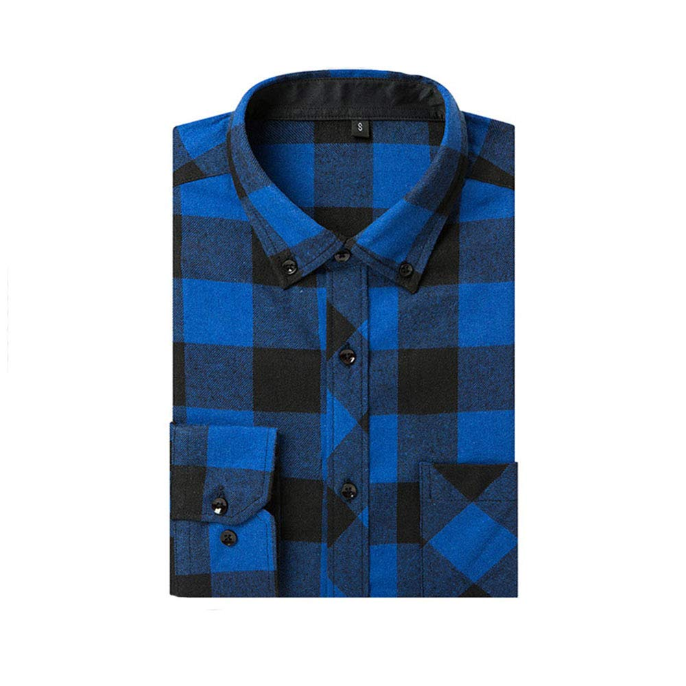 Mens Big /& Tall Long-Sleeve Plaid Flannel Shirt fit