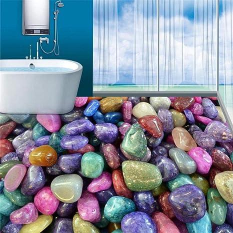 Romantischer Farbiger Wasserdichter Boden Kundenspezifisches Foto Selbstklebender Boden 3d Des Steinboden Badezimmer Pvc 3d 430 300cm Amazon De Baumarkt