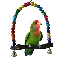 Scelet Bois, balançoire, Perroquet, Cage, Jouets Oiseau, Finch, Perruche