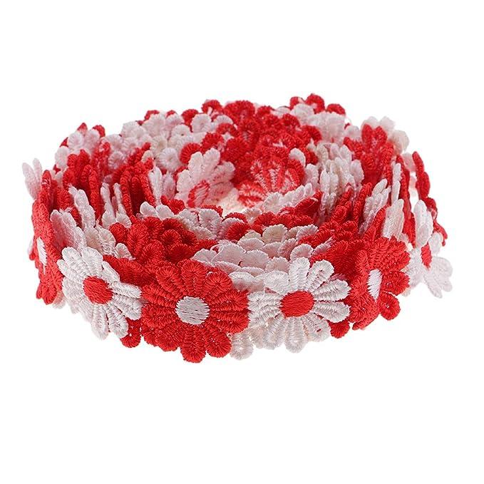 1 Yard Hochzeit Deko Zierband Spitzenborte Randverzierung Lace Blume Spitze