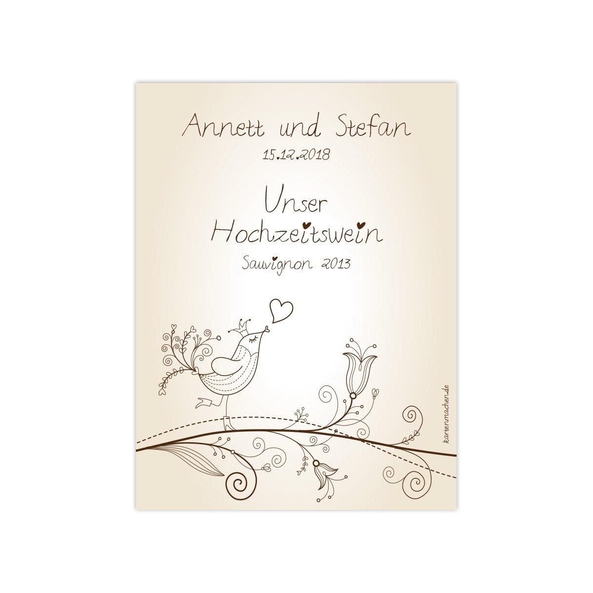20 x Flaschenetikett Hochzeit Aufkleber Etikett Etikett Etikett selbstklebend - Liebesbaum B077XMCLP6 | Schöne Farbe  | Creative  | Sale Outlet  de10a6