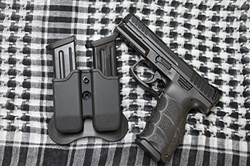 Combat Armory Hk Vp9 H&k Polymer Double Magazine Mag Pouch Soft Silicon Back Adjustable for Retention and Rotates (Vp9 Mags)