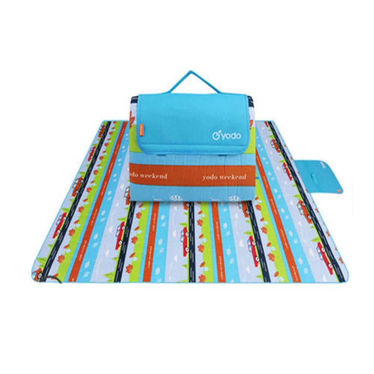 A006 200200cm Tapis de camping, tapis de plage imperméable extérieur, tapis de pique-nique, tissu Oxford, 200  200 cm, adapté au voyage extérieur, multiCouleure en option ( Couleur   A004 , Taille   200200cm )