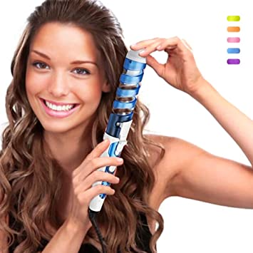 1b999c7fae2d Buy SexyBeauty Professional Portable Hair Salon Spiral Curl Ceramic Curling  Iron Hair Curler Waver Maker (blue) Online at Low Prices in India -  Amazon.in
