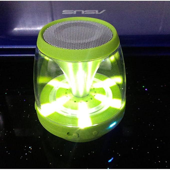 Ultra-porttil inalmbrico Altavoz Bluetooth con espectculo de luz Multicolor LED ? Build-in