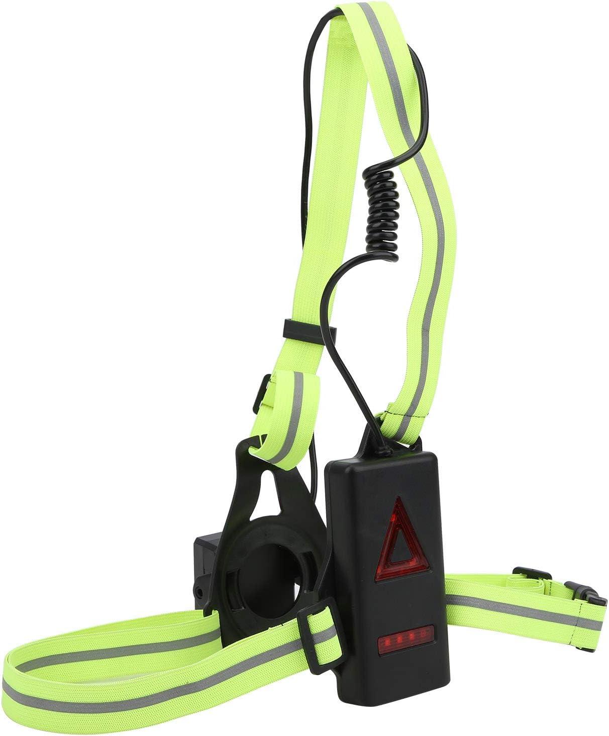Alomejor1 Night Running Light USB Rechargeable Chest Light High Lumen 3 Modes d/éclairage Lampe de Poitrine davertissement de s/écurit/é pour Le Sport de Plein air