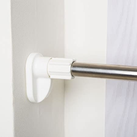 Stainless Steel Shower Curtain Rods Telescopic Poles Bathroom High Quality