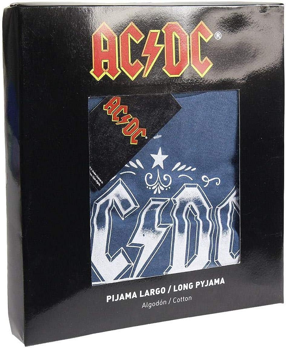2200004856 Artigianato Cerd/á pigiama lungo a tema ACDC