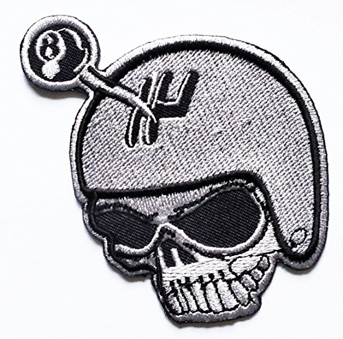 Skull Ghost Helmet Outlaw Motorcycle Motobike Rider Biker patch Motorcyle Bike Novelty Patch Biker Motorcycle Rider Patch Jacket T Shirt Patch Sew Iron on Embroidered Symbol Badge Cloth Sign Costume (Rider Helmet Novelty)