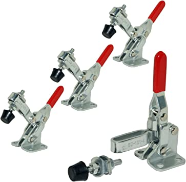 E-TING 4 Pcs Hand Tool 110lbs Holding Capacity Toggle Clamp 101A Antislip
