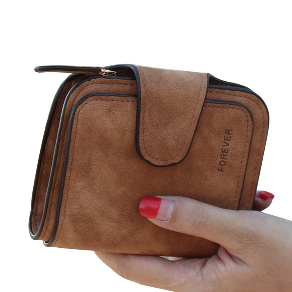 TJEtrade Wallets for Women Small Leather Bifold Card Holder Vintage Clutch Purse