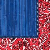 Amscan 33cm 16serviettes en papier Motif Western