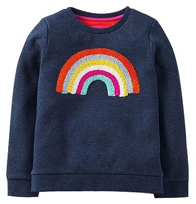 f7c1a9cc1ac9 Rjxdlt Little Girls Cute Sweatshirts Toddler Girl Long Sleeve Sweatshirt  Cartoon Crewneck Shirt Cotton Pullover 2T