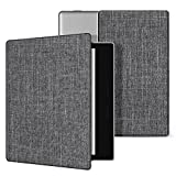 Ayotu Fabric Case for Kindle Oasis(9th Gen, 2017 Release) Thinnest and Lightest,Durable Soft Fabric Cover with Auto Wake/Sleep Function,Strong Adsorption for All-New7''Kindle Oasis Case,KO-09 The Gray