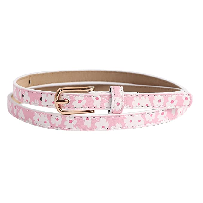 Vintage Wide Belts, Cinch Belts Metal Buckle Flowers Printing PU Belt $8.99 AT vintagedancer.com