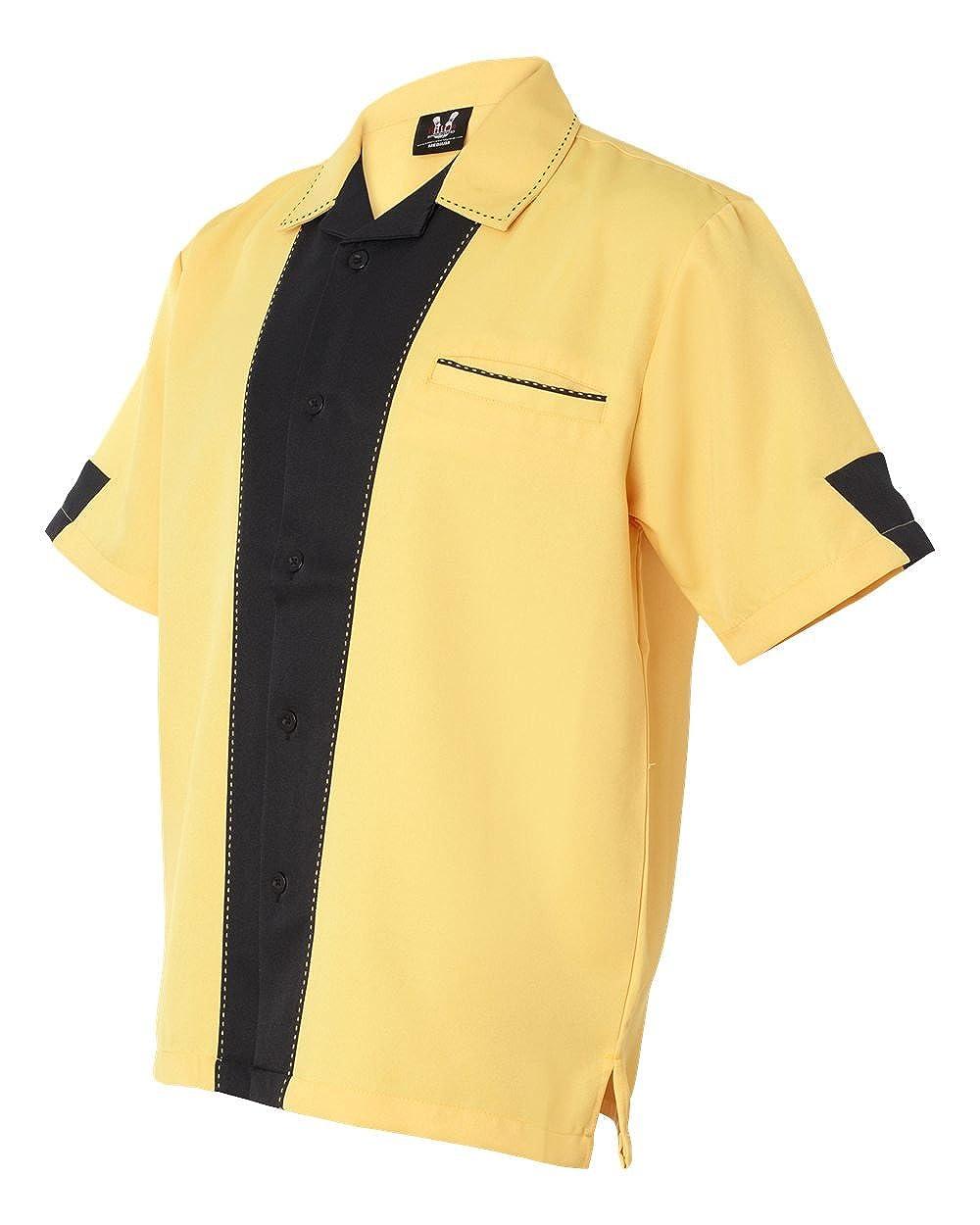 Amazon Hilton Mens Bowling Retro Monterey Bottom Shirt Clothing
