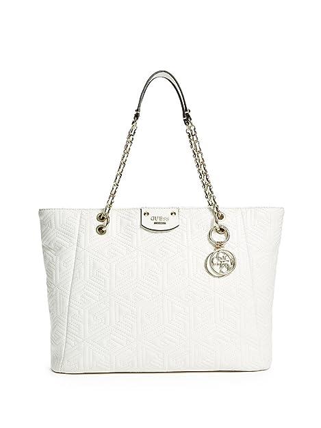Piel De Bolso Tu Shopper Imitación Blanco Vg621223 Guess Mujer xQdECerBoW