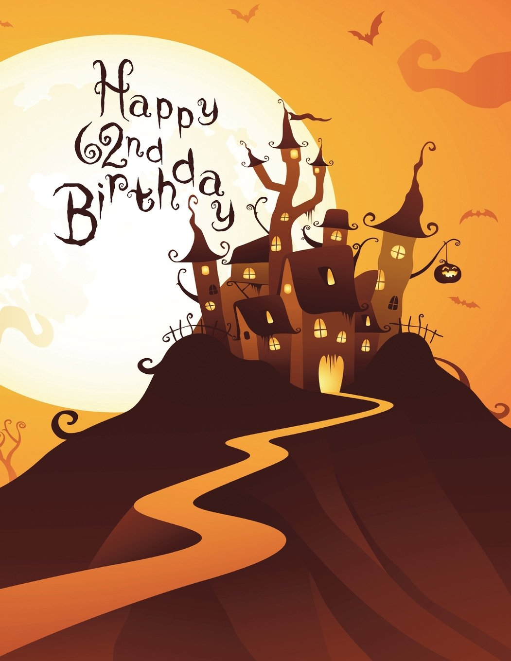 Happy 62nd Birthday Discreet Internet Website Password Organizer Haunted House Themed Gifts For 62 Year Old